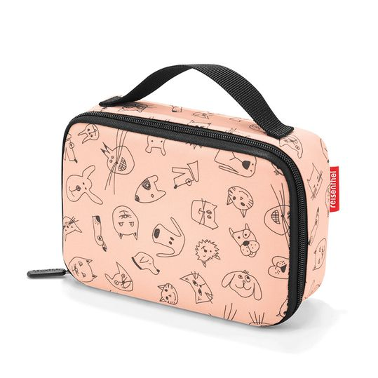 Brotbox Thermocase Kids - Cats & Dogs - Rose