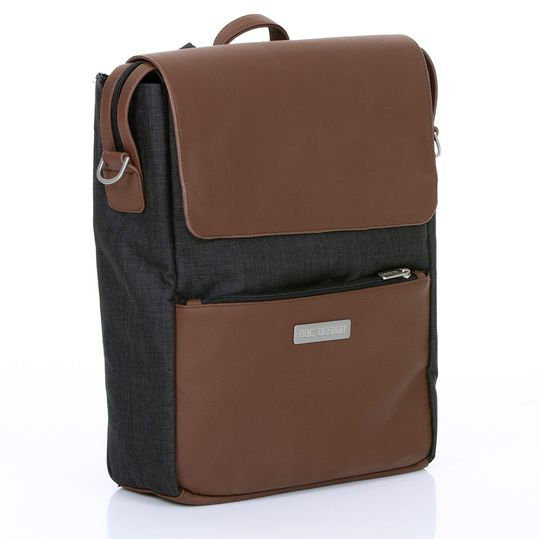 Changing backpack City with lid compartment - incl. changing mat and accessories - Piano
