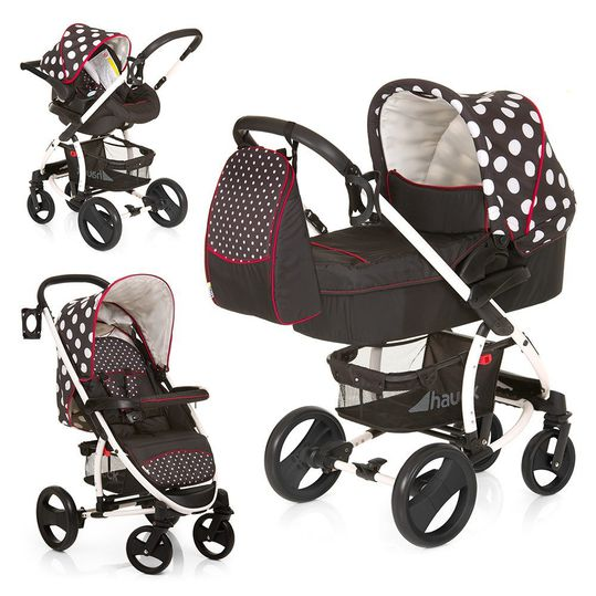 Baby carriage set Malibu XL All in One - Dots Black