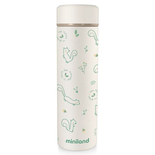 Edelstahl-Isolierflasche Natur Thermos 450 ml - Chip