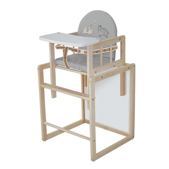Combi high chair nature with wooden dining board - Jumbotwins