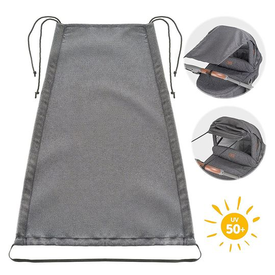 Universal awning Deluxe for prams and buggies - Grey