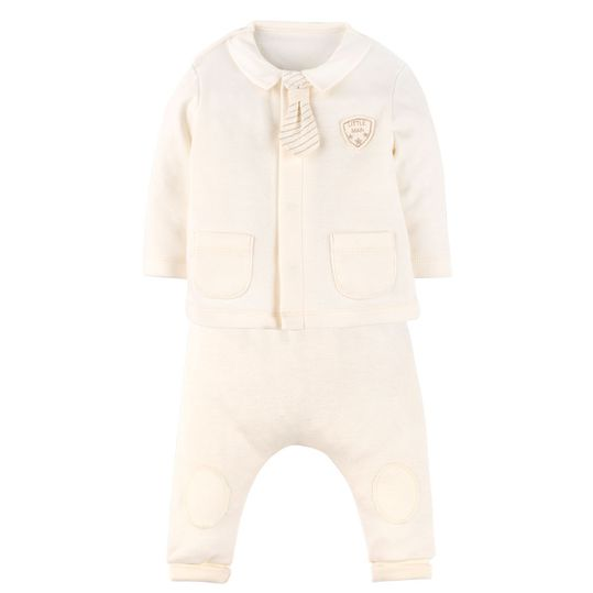 Newborn Set: 2-tlg. Organic - Little Man - Natur - Gr. 6-9m