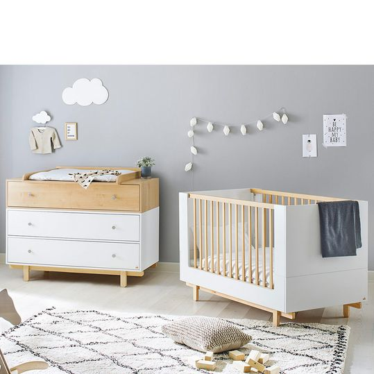 Economy set children's room Boks with bed and wide changing table