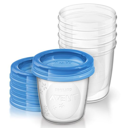 10-piece returnable cup set for breast milk SCF619/05