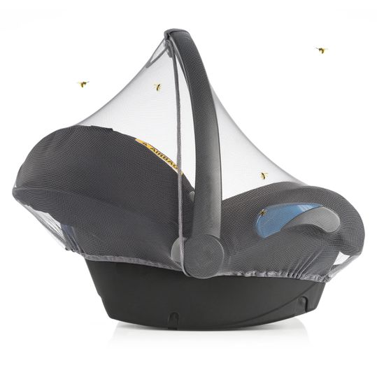 Universal insect screen / mosquito net for baby seat - grey