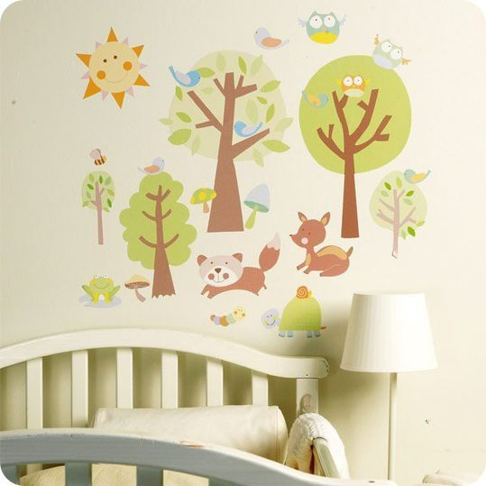 28-piece wall sticker set - Animal Tales