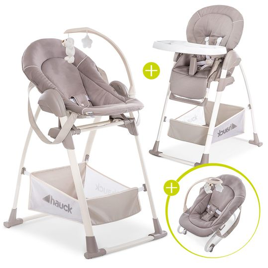 Sitn Relax 3in1 - High chair from birth, baby couch and seesaw - Stretch Beige