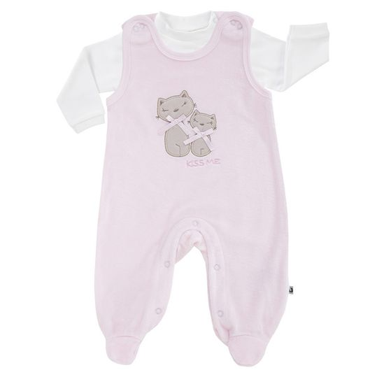 Set Nicki romper with appliqué & shirt Basic Line - Pink - Gr. 56