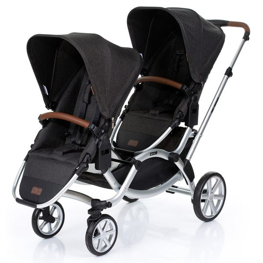 Sibling carriage & twin stroller Zoom - Piano