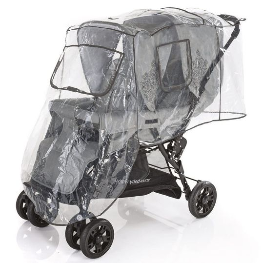 Rain protection comfort for sibling carriages