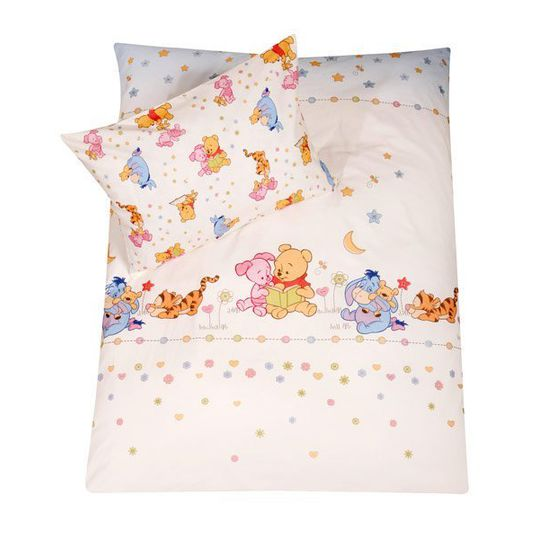 Bed linen 80 x 80 cm - Stylished Pooh White