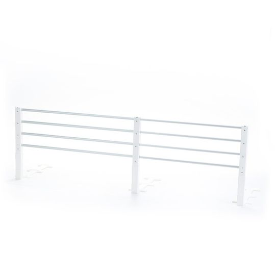 Bed guard variable metal 80 - 140 cm - white