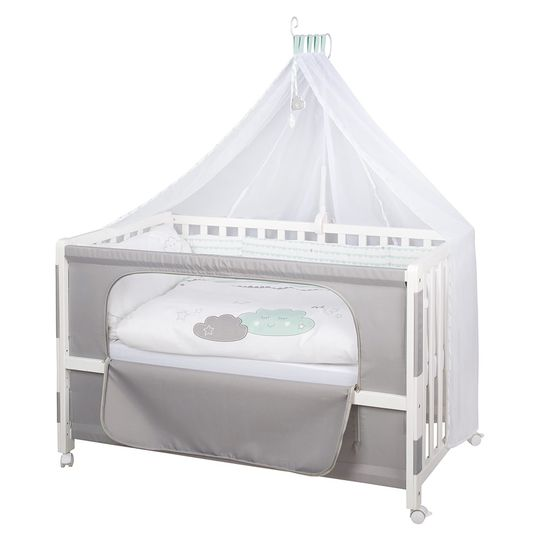 Room Bed White incl. accessories 60 x 120 cm - Happy Cloud