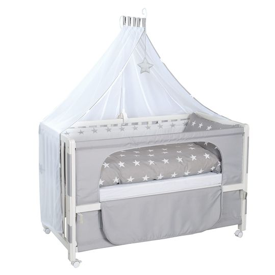 Room Bed White incl. Accessories - Little Stars - Grey