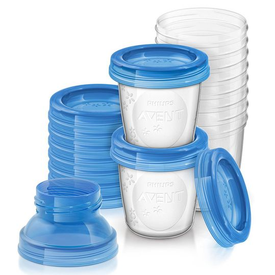22-piece returnable cup set for breast milk SCF618/10