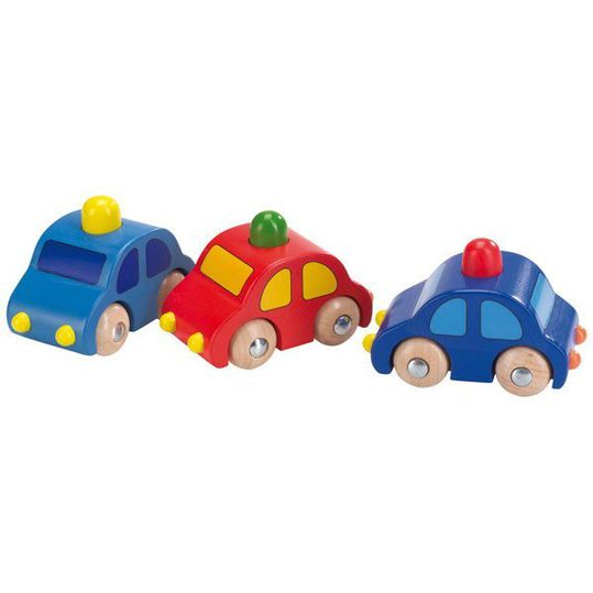Wooden toy car with horn