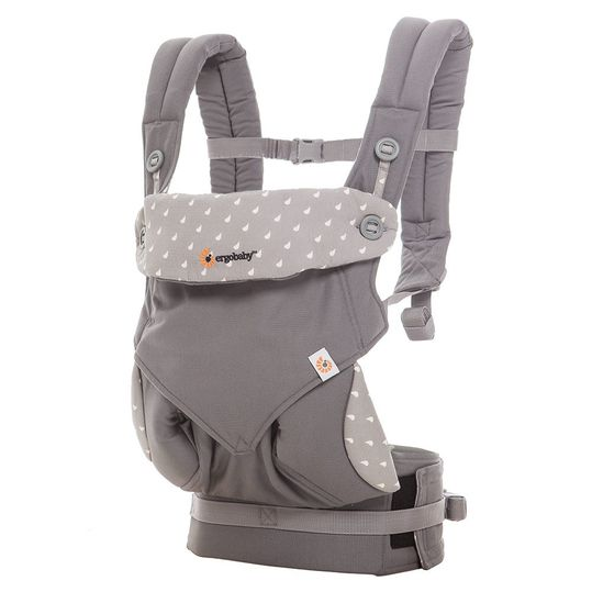 360° baby carrier for 4 carrying positions - Dewy Grey
