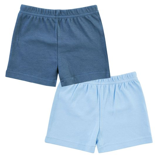 Shorts 2er Pack Little Adventurer - Hellblau Dunkelblau - Gr. 62/68