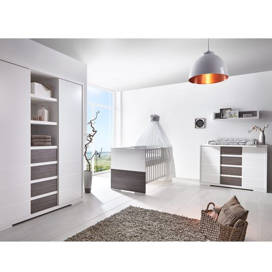 Children's room Maxx Fleetwood 15-pcs. with 2-door wardrobe incl. textile collection Ice Crystal Grey