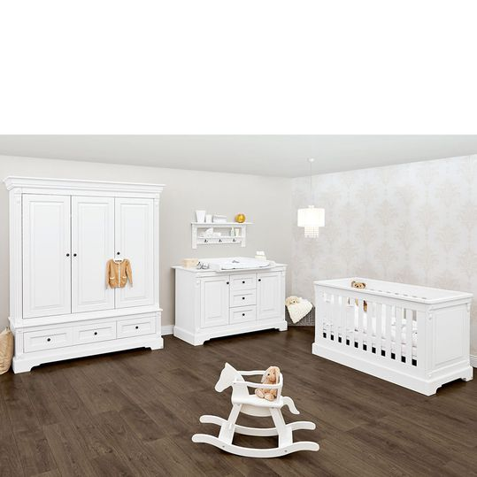 Children's room Emilia with extra wide changing table and 3-door wardrobe