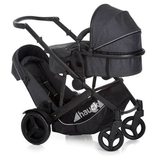 Sibling carriage Duett 3 - Melange Charcoal
