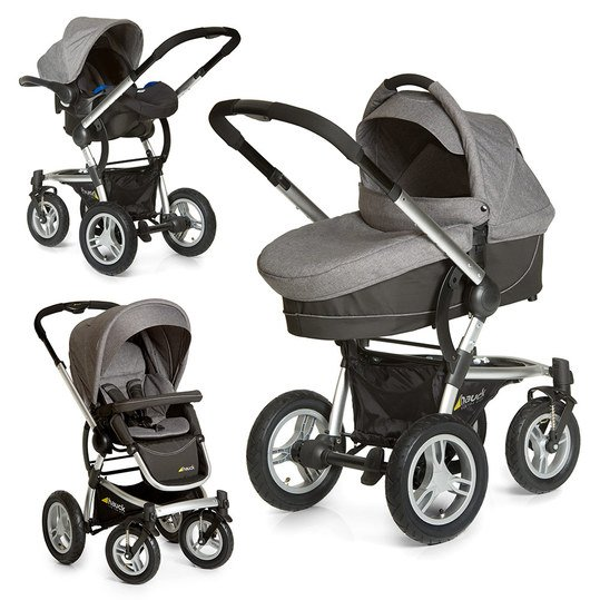 Kinderwagen-Set King Air Plus Trio Set - Melange Grey