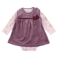 2 tlg. Set Body + Kleid - Free Bordeaux Rosa