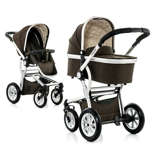 Kombi-Kinderwagen Tregg City - Brown Melange