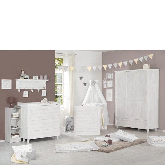 Children's room Sarah with 3-door wardrobe, bed, baby changing unit
