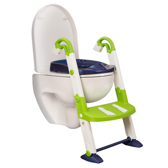 Toilettentrainer 3 in 1 - Perl Blue Weiß Limette