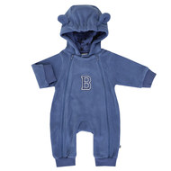Fleece-Overall mit Kapuze Cool Boy - Blau