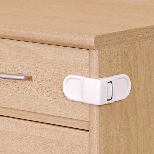 Cabinet & drawer security - White