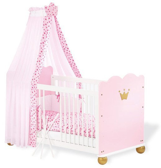 pinolino kinderbett prinzessin karolin 70 x 140 cm. Black Bedroom Furniture Sets. Home Design Ideas