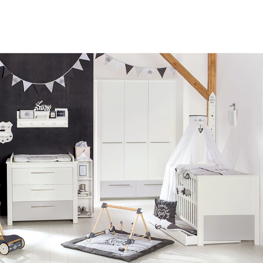 roba kinderzimmer linus mit 3 t rigem schrank bett wickelkommode. Black Bedroom Furniture Sets. Home Design Ideas