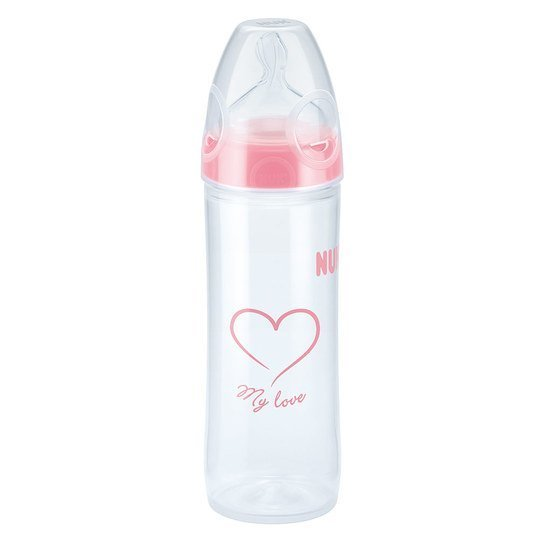 PP-Flasche New Classic 250 ml - Silikon Gr. 2 - Rosa
