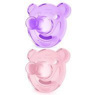 Soother 2 pack Soothie - Silicone 0-3 M - SCF194/02 - Purple Pink