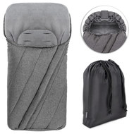 Deluxe Winter Footmuff for Strollers & Buggies - Melange Grey
