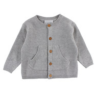 Strickjacke - Grow Grau Melange - Gr. 56