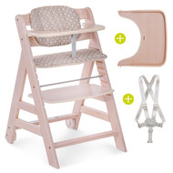 High Chair Beta Plus - Whitewashed Dots