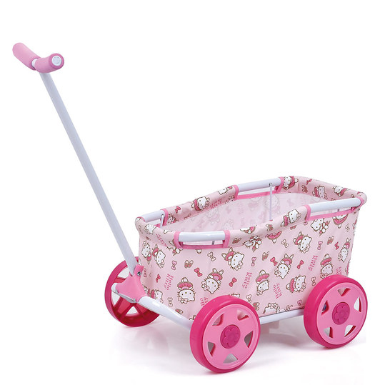 Puppen-Bollerwagen Caddy Mini - Hello Kitty - Rosa