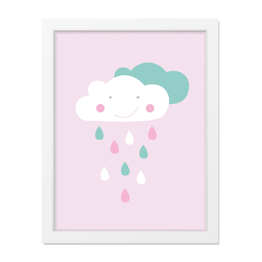 Poster - Wolkenliebe Rosa - A4
