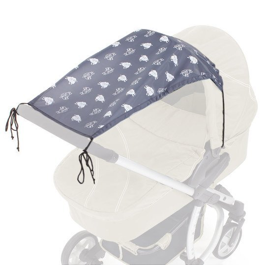 Sonnensegel Sunshine Sheep für Kinderwagen 40+ - Anthrazit