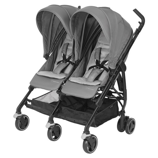 Geschwister- & Zwillingsbuggy Dana for 2 - Nomad Grey