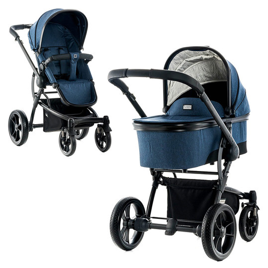 Kombi-Kinderwagen City Line Cool - Ocean Fishbone