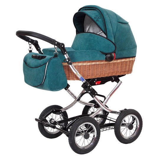 Erstlings-Kinderwagen Nature - Matrix Grün