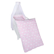 Bed linen set - Small cloud - Pink