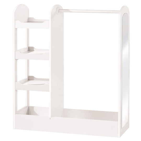 Children's wardrobe with shelf compartment and mirror