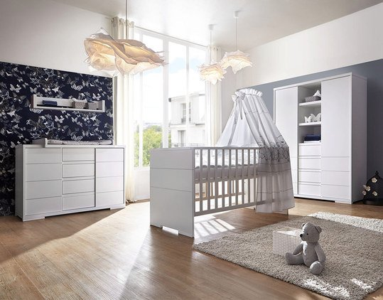 schardt kinderzimmer maxx white mit 2 t rigem schrank mit mittelregal bett wickelkommode. Black Bedroom Furniture Sets. Home Design Ideas