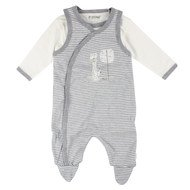 2-piece set romper + Body Infinity - Grey Offwhite - Gr. 56